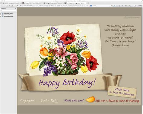 Jacquie Lawson Birthday Cards E Greeting The Vibrant Channeled Creator