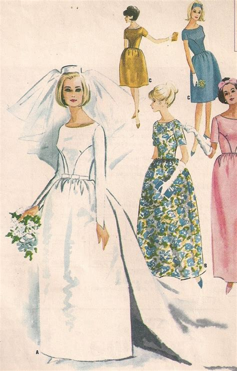 pattern dress with train vintage 60s wedding dress pattern detachable train with