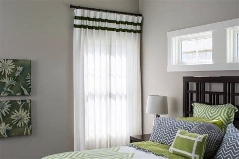 white curtains with green trim gradison model home drapery street