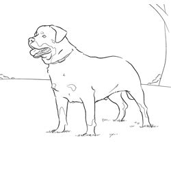 guard dog coloring page online coloring pages of your favorite dog breed