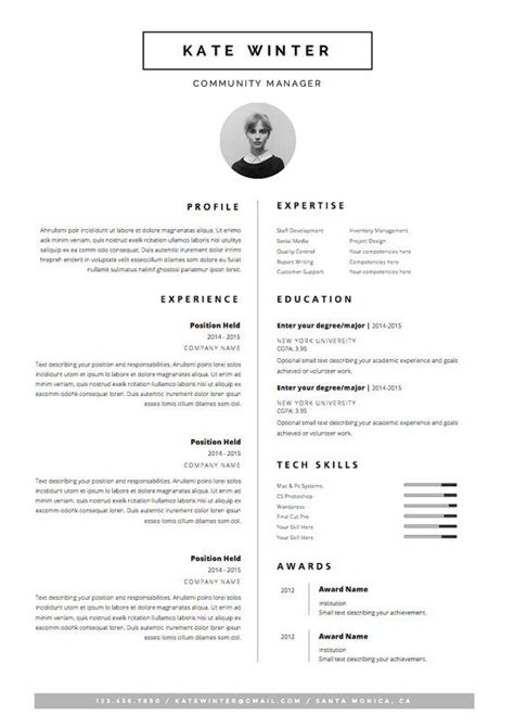 Resume Template 3 Page Moonlight by 20 Mejores Im 225 Genes De Cv Ideas En Plantillas