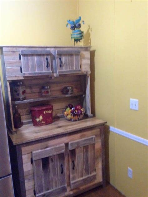 kitchen hutch ideas kitchen hutch made from pallets 101 pallet ideas