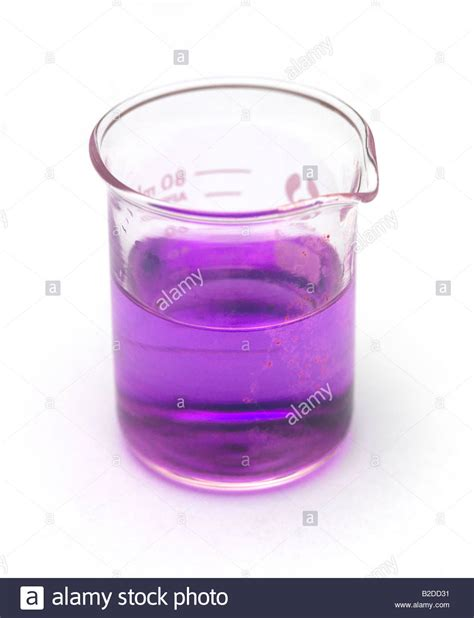 potassium color purple potassium permanganate solution stock photo