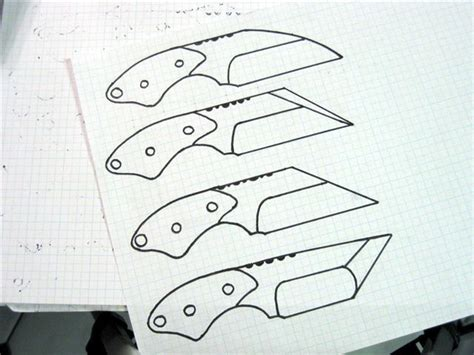 knife pattern dwg 60 best images about blade templates on pinterest