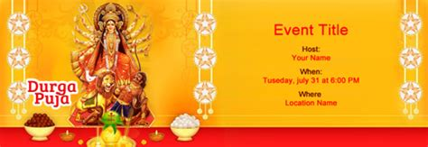 durga puja invitation card template free durga puja invitation with india s 1 tool