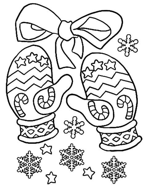 mitten coloring page mittens gloves coloring pages color