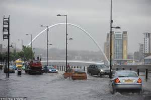 Lightning Strike Hits Car In Newcastle Uk Floods 153 Lightning Strikes A Minute And Hailstones