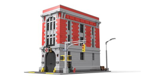 Lego Ghostbusters House by Lego Ghostbusters Headquarters Modular Scale Ghostbusters Fans