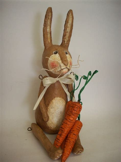 How To Make Paper Mache Rabbit - 1000 images about primitive rabbits bunnies on