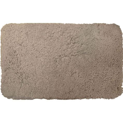 home dynamix superior gray 21 in x 34 in microfiber bath