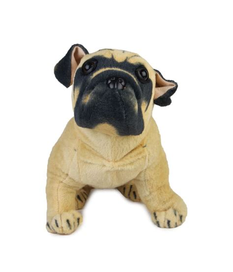 hutch pug teddy biege staple polyester hutch pug sitting 35cm buy teddy