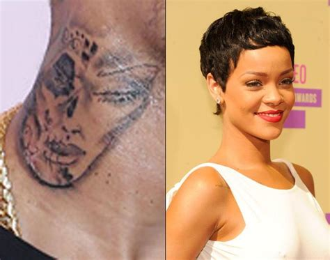 chris brown face tattoo did chris brown rihanna s on his neck ny