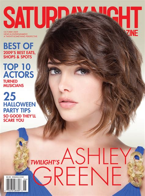 ashley greene magazine cover ashley on saturday night magazine cover twilight guide