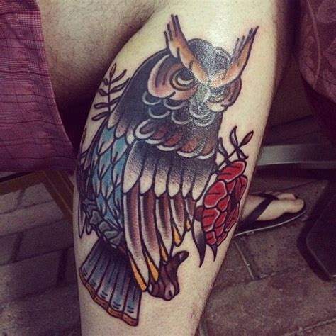 american traditional owl tattoo american traditional owl