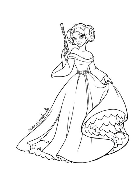 Dprincess Leia Coloring Pages Wars Princess Leia Coloring Pages Free Coloring Sheets