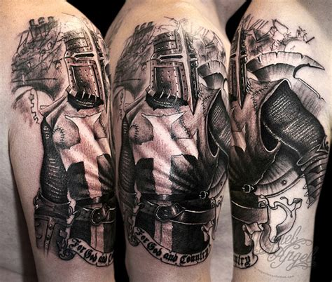 knight tattoo heaven light templar knights tattoos