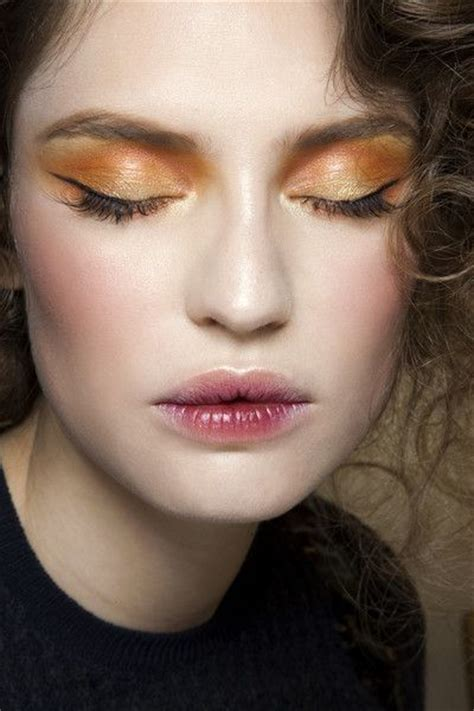 Lip Cheeck Eye Color and plum it works makeup inspiration eye makeup stained orange