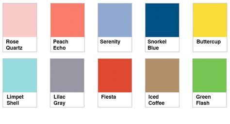 new color collection chart nicole s blog pantone spring 2016 colors play crafts