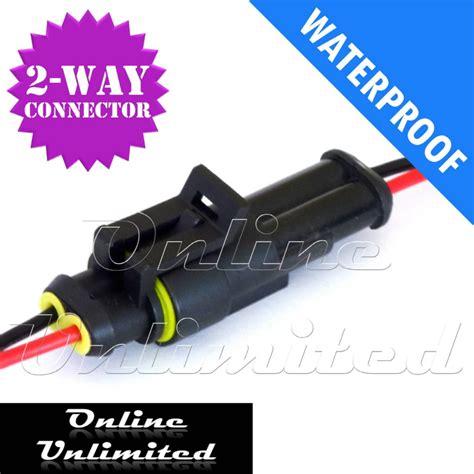 waterproof 12v wire connectors 10 x 2 pin way waterproof automotive marine electrical