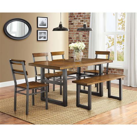 better homes and gardens dining table better homes and gardens maddox crossing dining table