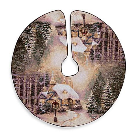 thomas kinkade illuminated tree skirt buy kinkade stonehearth tree skirt from bed bath beyond