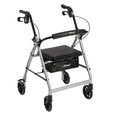 drive 4 wheel walker with seat drive 4 wheel rollator walker with removable folding back