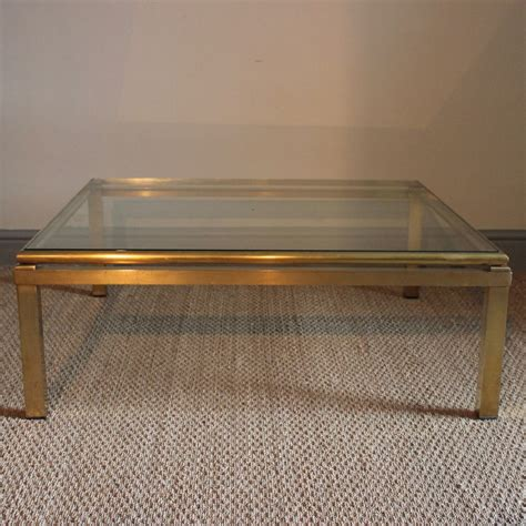 stylish  square brass coffee table furniture