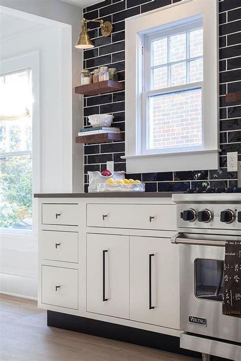 black kitchen backsplash contemporary kitchen with gray tile backsplash