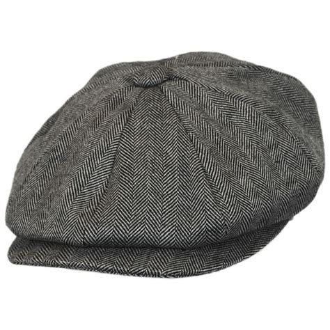 Herringbone Newsboy Cap jaxon hats herringbone wool newsboy cap newsboy caps