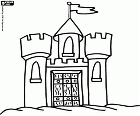 small castle coloring page ausmalbilder burgen malvorlagen