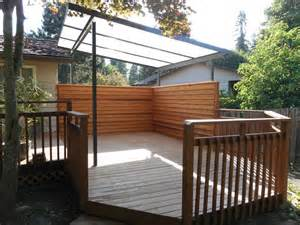 acrylite patio cover with privacy screen deck masters