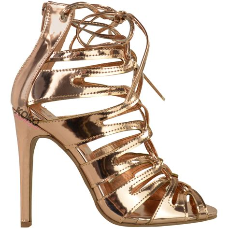 lace up sandal heels womens lace up high heels stiletto ankle strappy