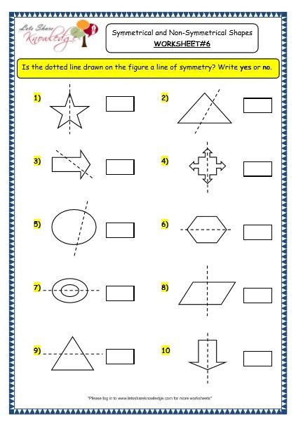 grade math worksheets lines of symmetry amazing grade
