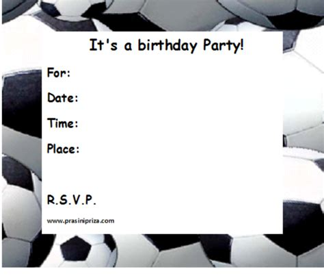 soccer invitation template 8 best images of soccer birthday printable