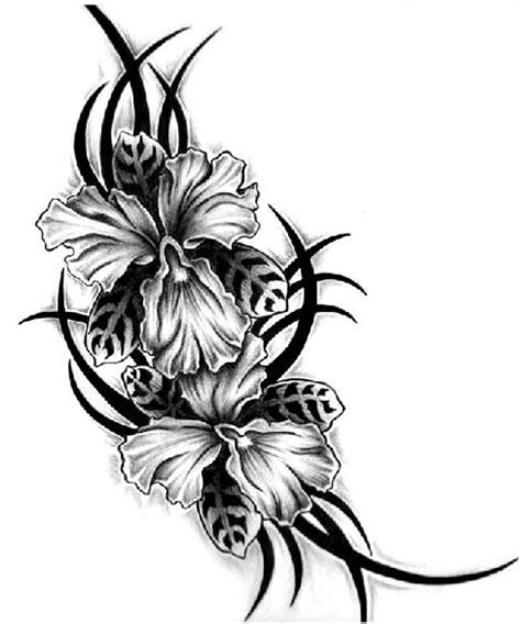 hibiscus tribal tattoos 18 tribal flower tattoos