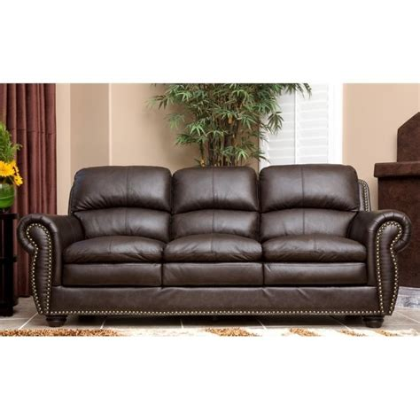 Brown Leather Sofa Sets Abbyson Living Harrison 4 Leather Sofa Set In Brown Jc 2300 Brn 3 2 1 4