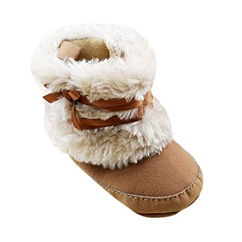 Prewalker Boots Import baby infant bowknot boots soft crib shoes toddler warm fleece import it all