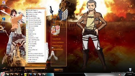 theme psp attack on titan theme win 7 shingeki no kyojin theme anime windows