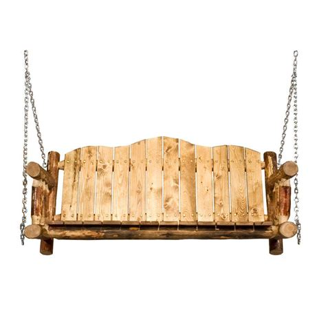montana woodworks glacier country porch swing with