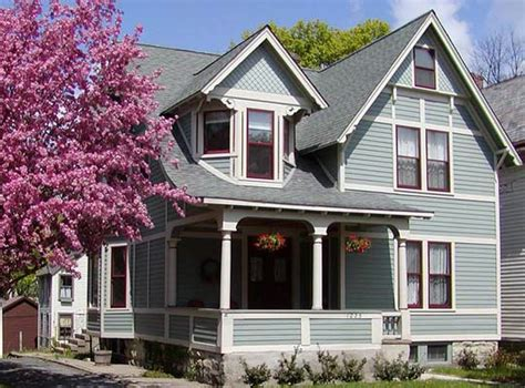 exterior house color schemes gray similar to celtic blue with new pilgrim and white trim