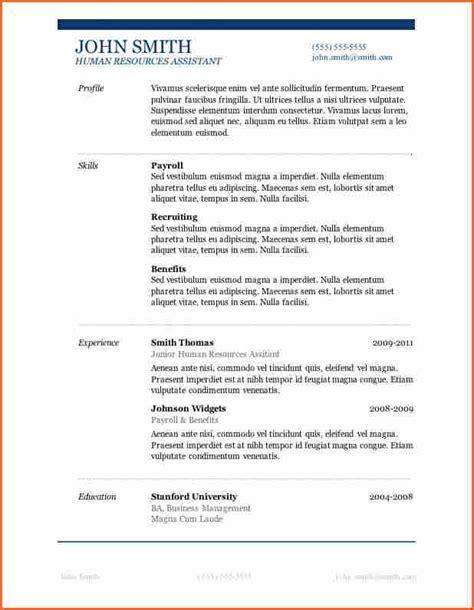 free cv template word 2007 free resume templates microsoft word