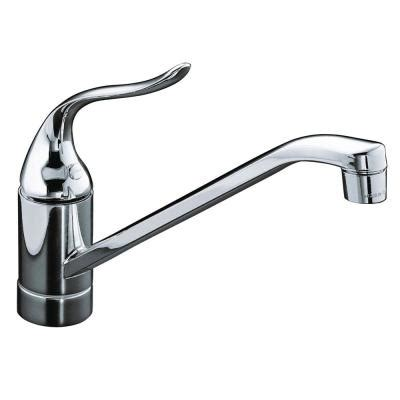 Kitchen Faucet For Less Kohler Coralais Single Handle Standard Kitchen Faucet With Less Escutcheon In Polished Chrome K