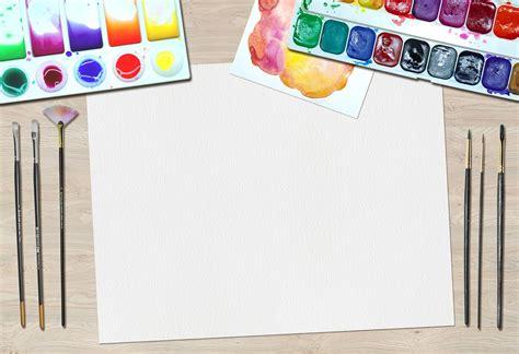 Blue Coffee Table by Free Illustration Art Paint Desk Artist Equipment