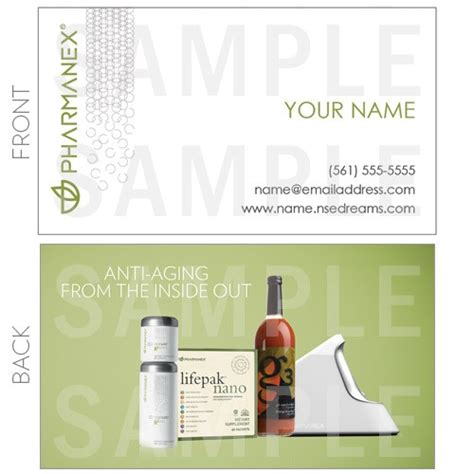 Nu Skin Business Card Template by Pharmanex Business Cards