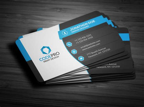 Template For Business Card by Creative Corporate Business Card Business Card Templates