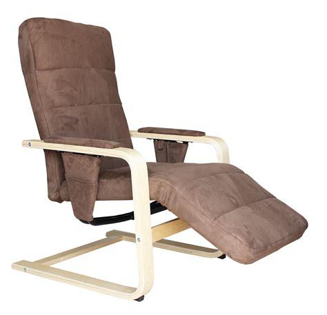 fauteuil de relaxation fauteuil de relaxation manuel bois tissu coloris brun gris ocibel fauteuil en tissu