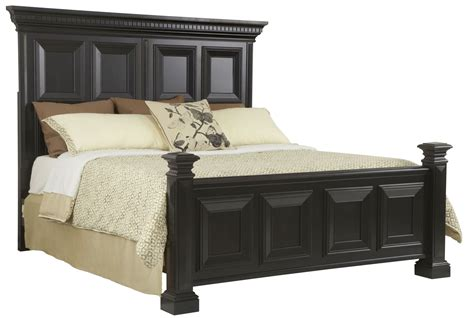 black panel bed brookfield antique black queen panel bed from pulaski