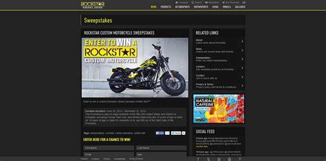 Motorcycle Sweepstakes 2014 - rockstar custom motorcycle sweepstakes