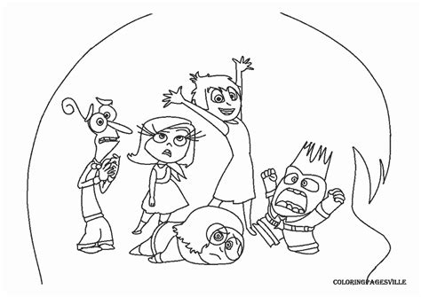 inside out team printable coloring page for kids and adults inside out coloring pages