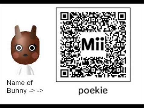 coding rabbit mii qr code bunny 3ds